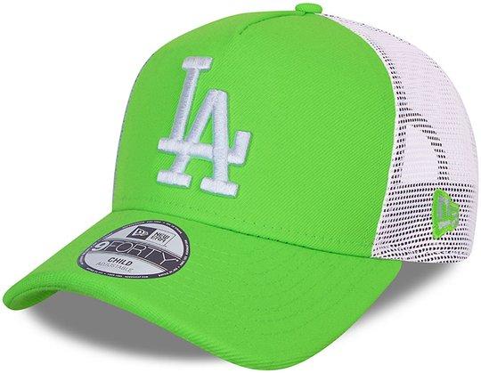 New Era LA Dodgers Tonal Mesh Trucker Caps, Green Shock, 4-6 Jahre