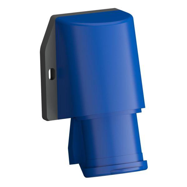 ABB 2CMA102295R1000 Vegginntak hurtigtilkoblet, vibrasjonsbestandig Blå, 16 A, 3-polet, IP44, med lokk