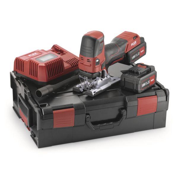 Flex JS18.0-EC Set Stikksag med batterier og lader