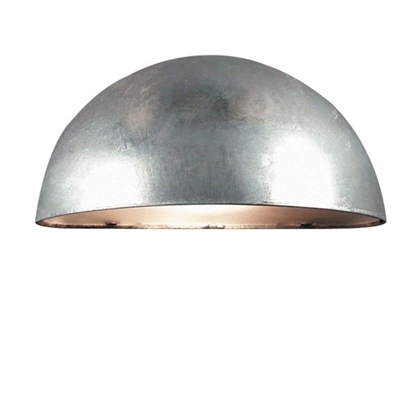 Vegglampe Bergen, halvrund, sølvgrå