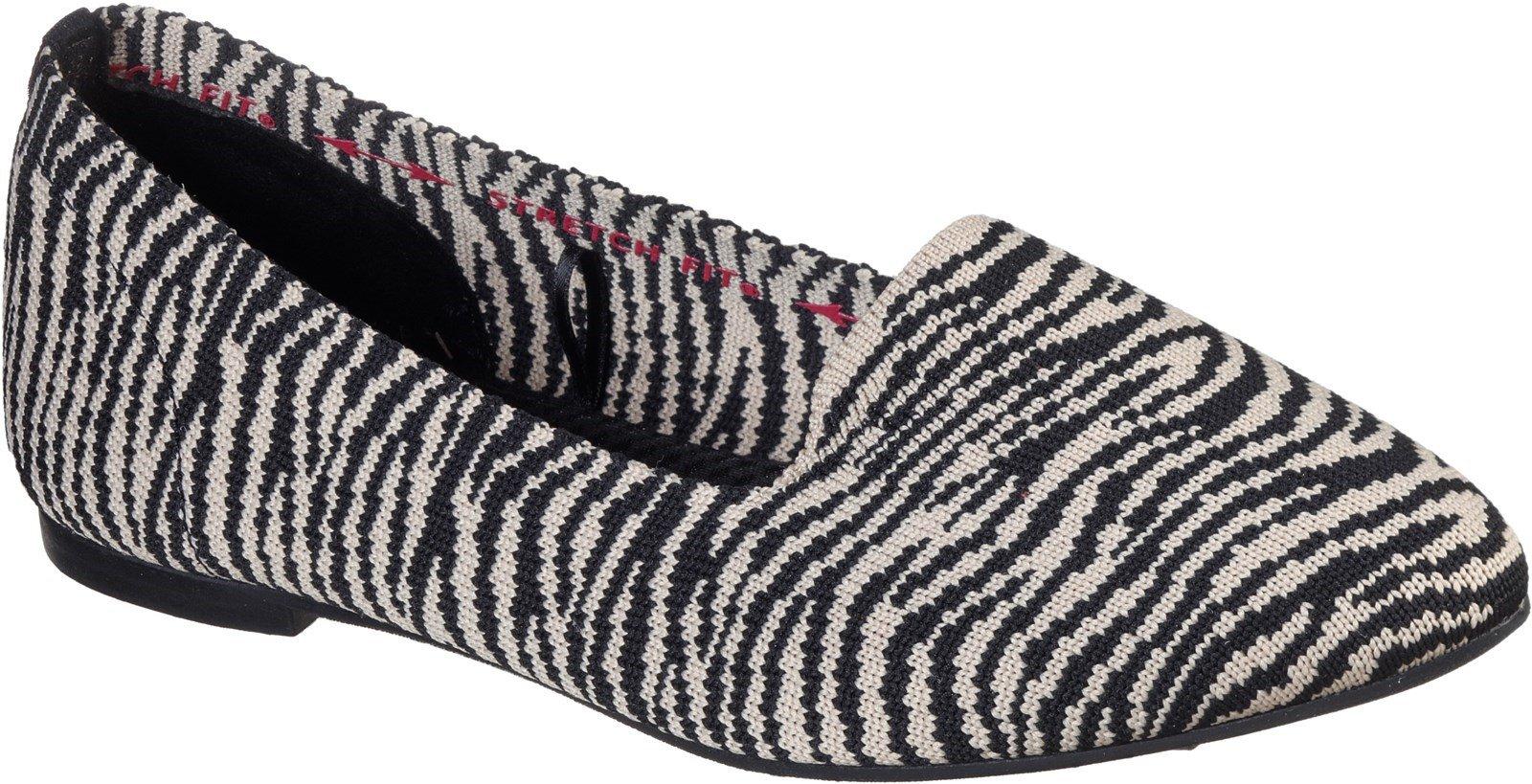 Skechers Women's Cleo Knitty Kit Slip On Loafer Multicolor 32124 - Natural/Black 3
