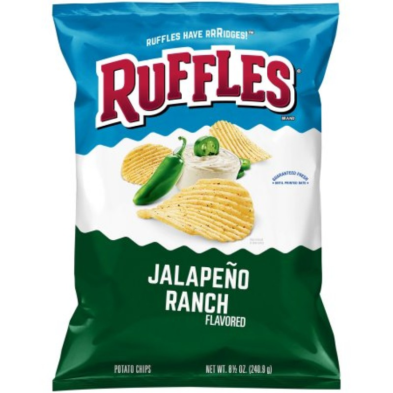 Ruffles Potato Chips Jalapeno Ranch 184g
