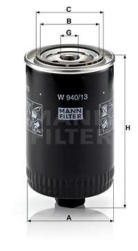 Öljynsuodatin MANN-FILTER W 940/13