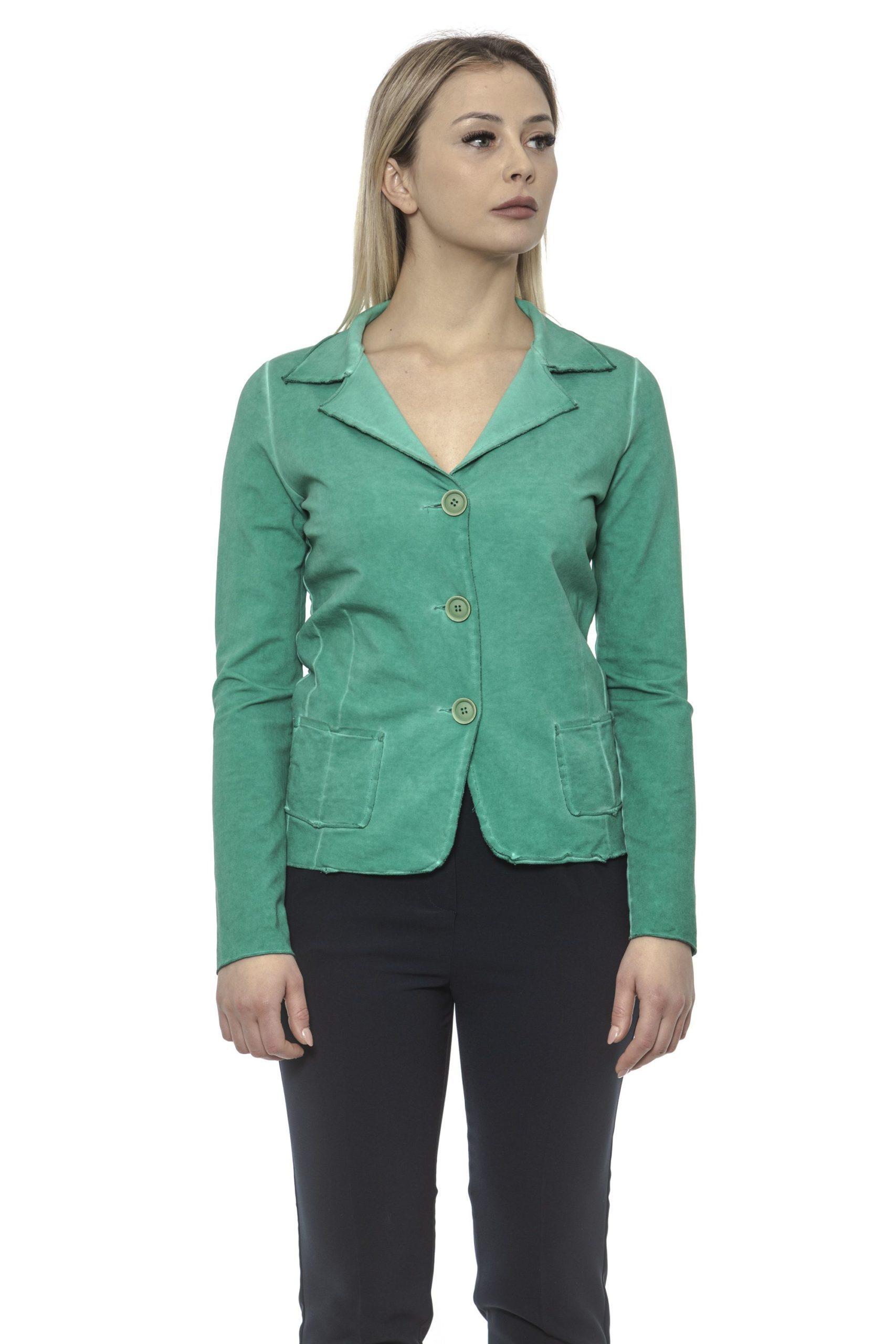 Alpha Studio Women's Giada Blazer Green AL1374699 - IT40 | XS
