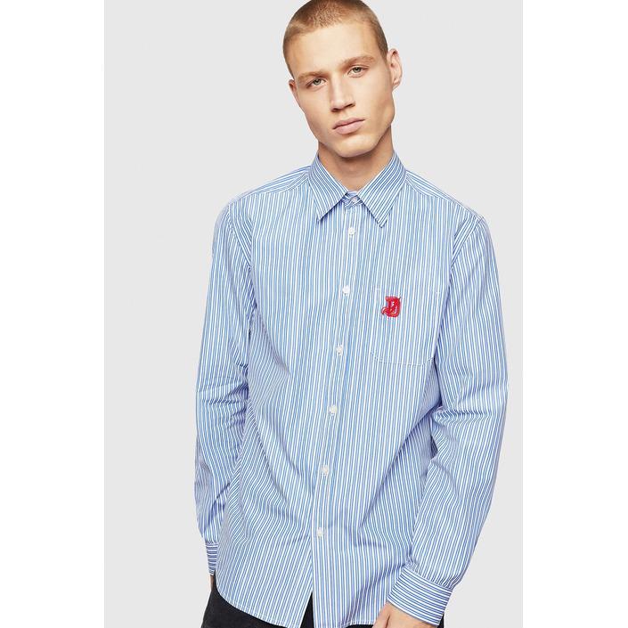 Diesel Men's Shirt Blue 287429 - blue L