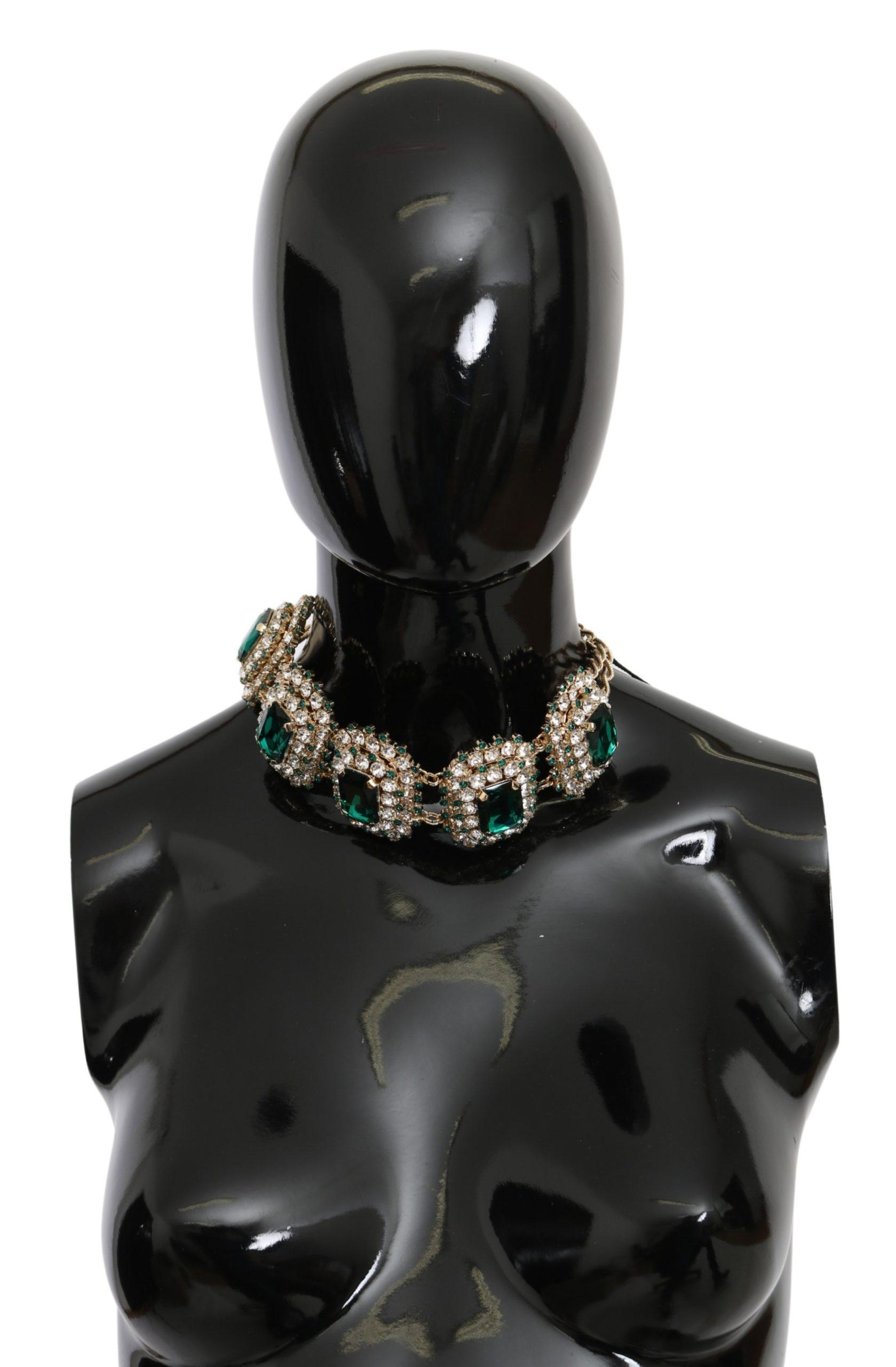 Dolce & Gabbana Women's Crystal STRASS Motive Pearl Necklace Gold SMY10073