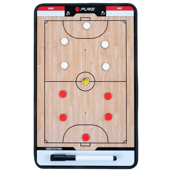 vidaXL Dubbelsidig taktikplatta för futsal 35x22 cm