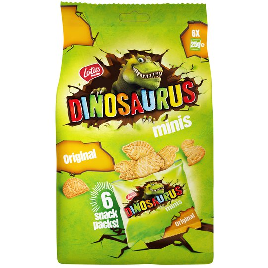 "Vetekex ""Dinosaurus Minis"" 6 x 25g - 13% rabatt"