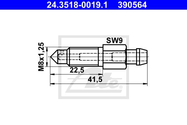Huohottimen pultti / venttiili ATE 24.3518-0019.1