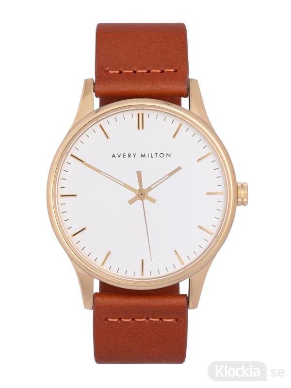Avery Milton Como Brown Gold/White 1191402120 Unisexklocka
