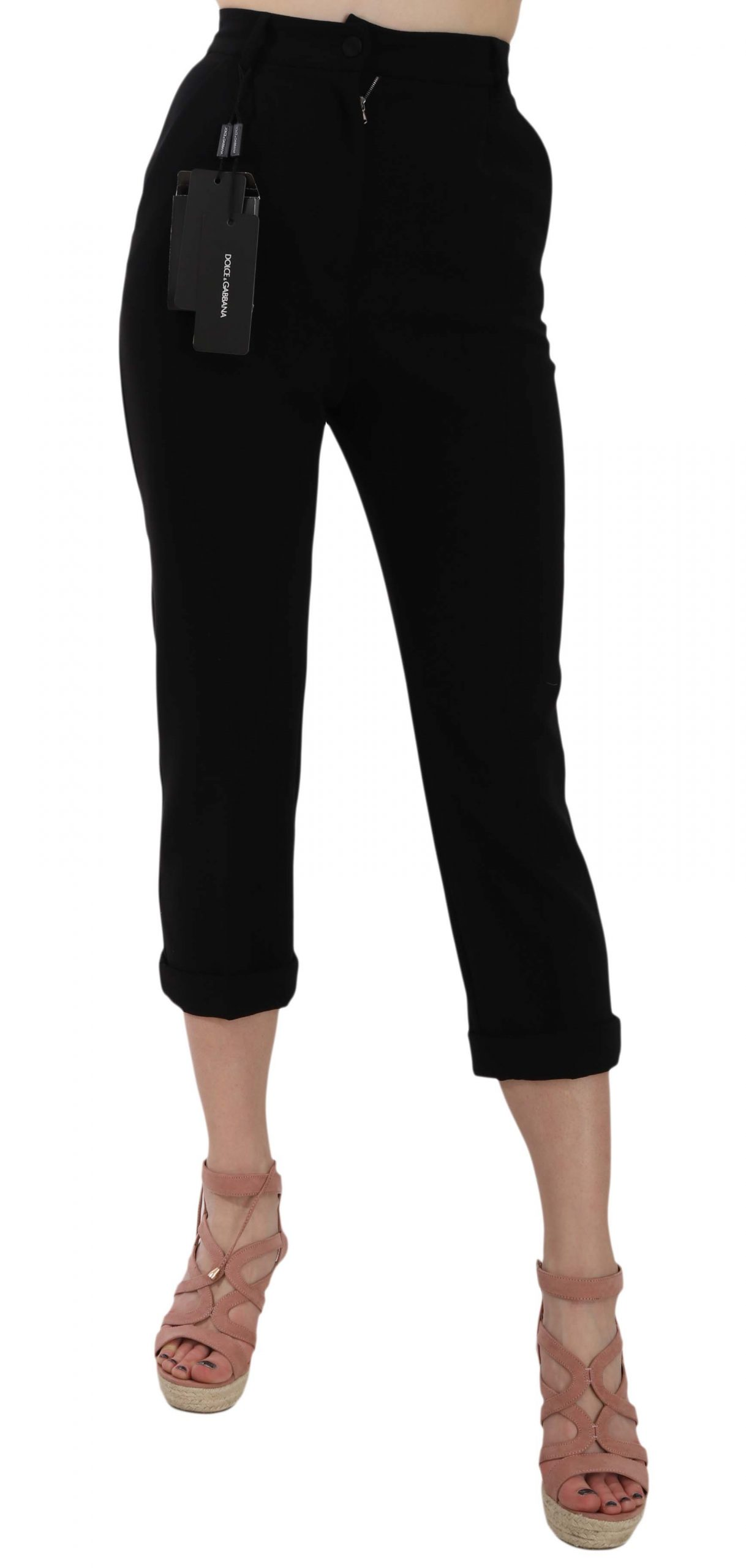 Dolce & Gabbana Women's Trouser Black BYX1349 - IT36 | XS