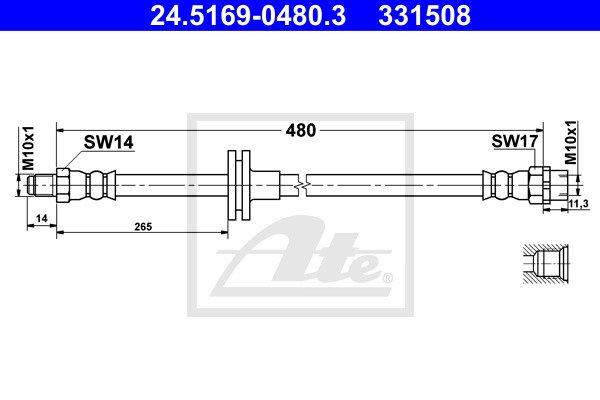 Jarruletku ATE 24.5169-0480.3
