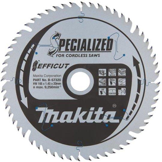 Makita B-57320 Pyörösahanterä Efficut, Ø 165 mm