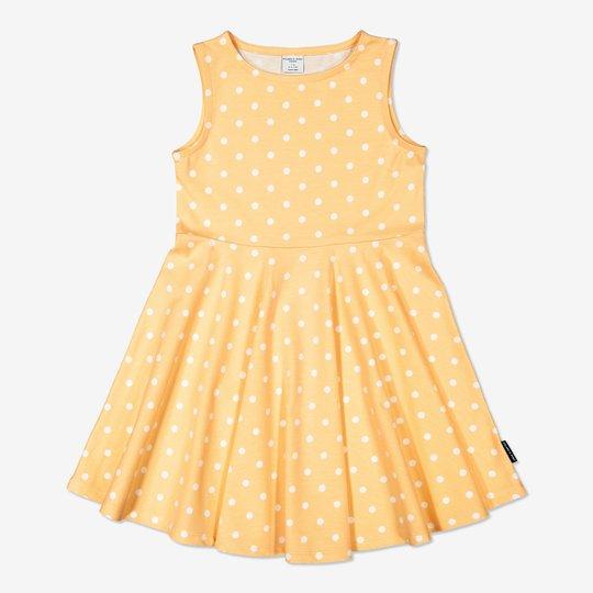 Prikkete kjole gul