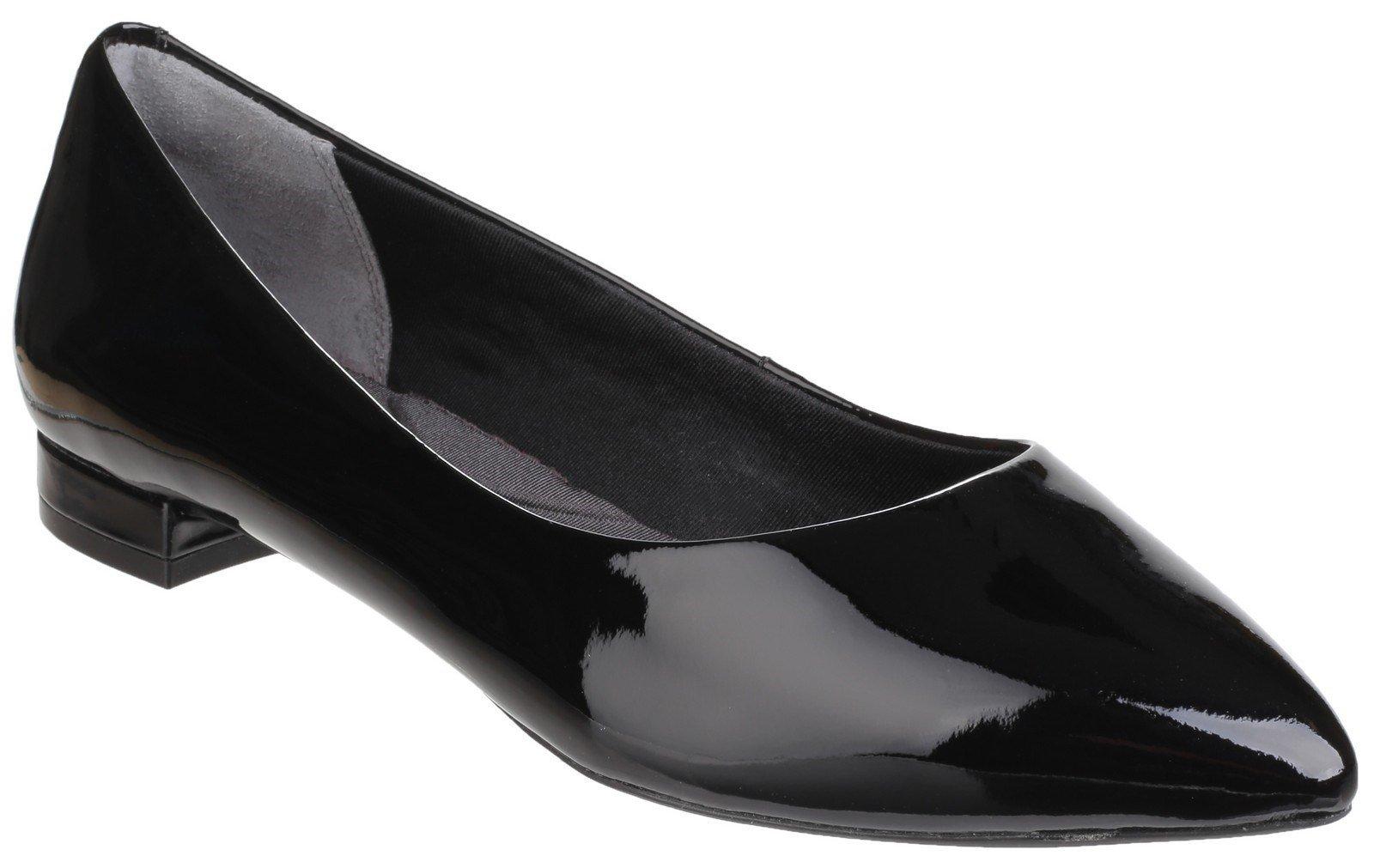Rockport Women's Total Motion Adelyn Flat Shoe Black Patent 24787 - Black Patent 4