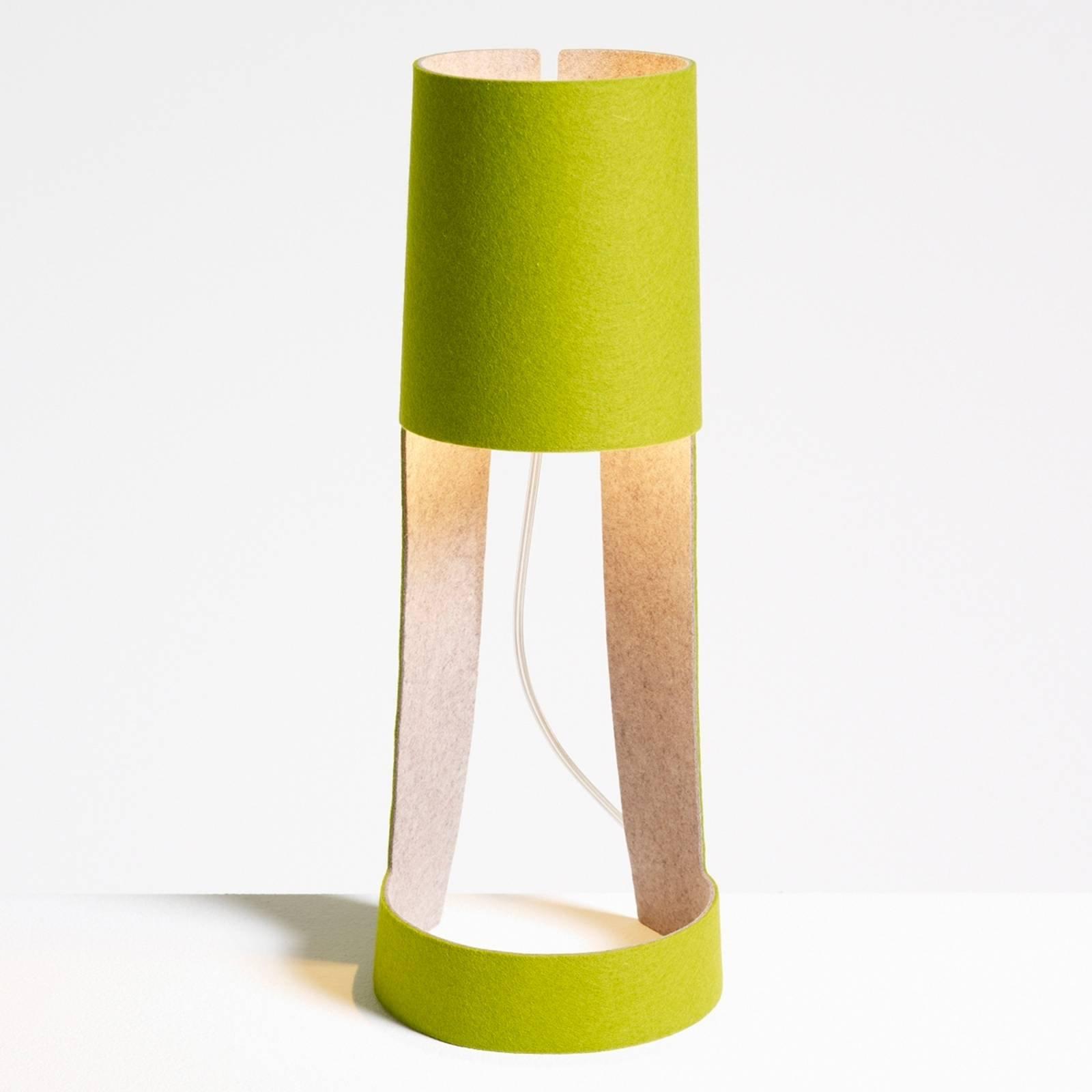 Mia bordlampe i grønt og grått