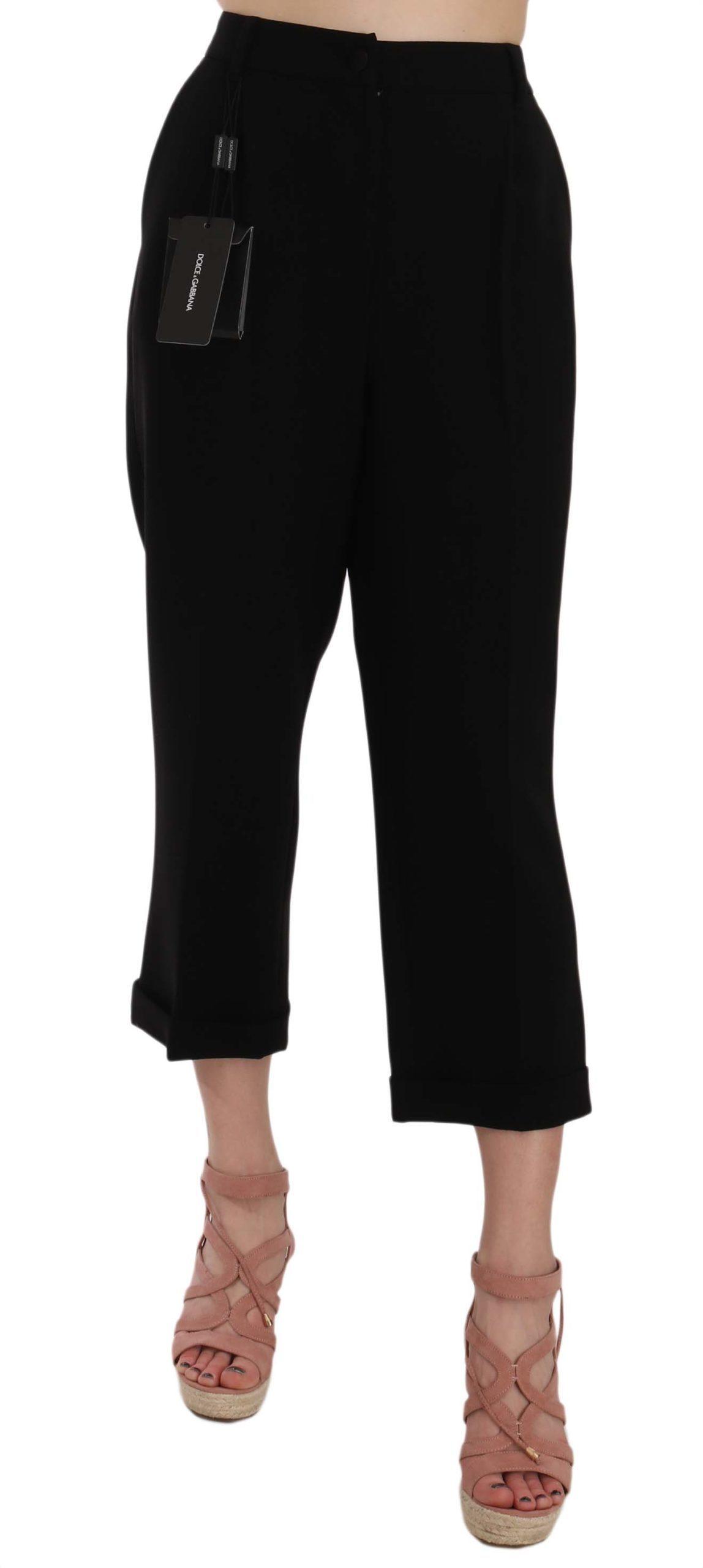 Dolce & Gabbana Women's Trouser Black PAN61026 - IT48 XXL