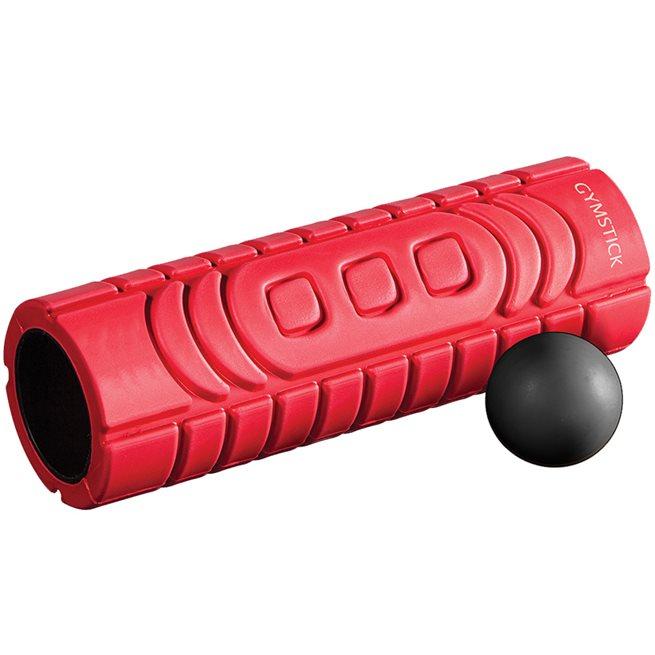 Gymstick Travel Roller With Myofascia Ball, Foamroller