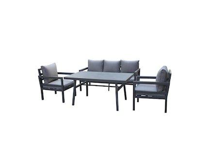 Trento Sofagruppe 3 seter - Mørkegrå