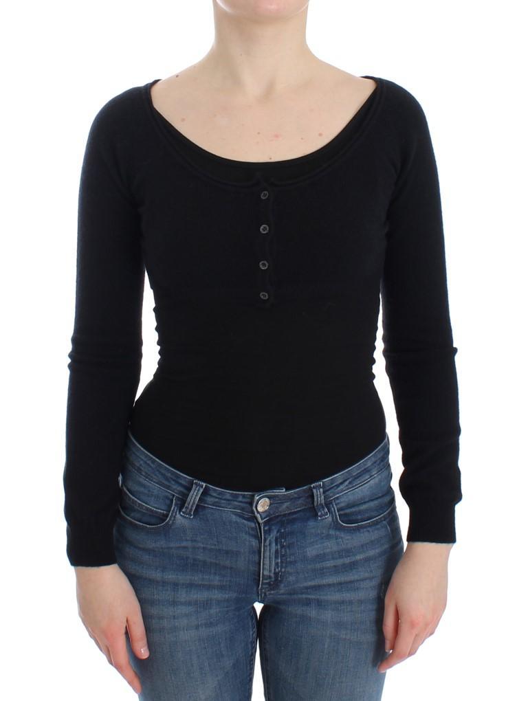 Ermanno Scervino Women's Cashmere Sweater Black SIG12574 - IT40   XS