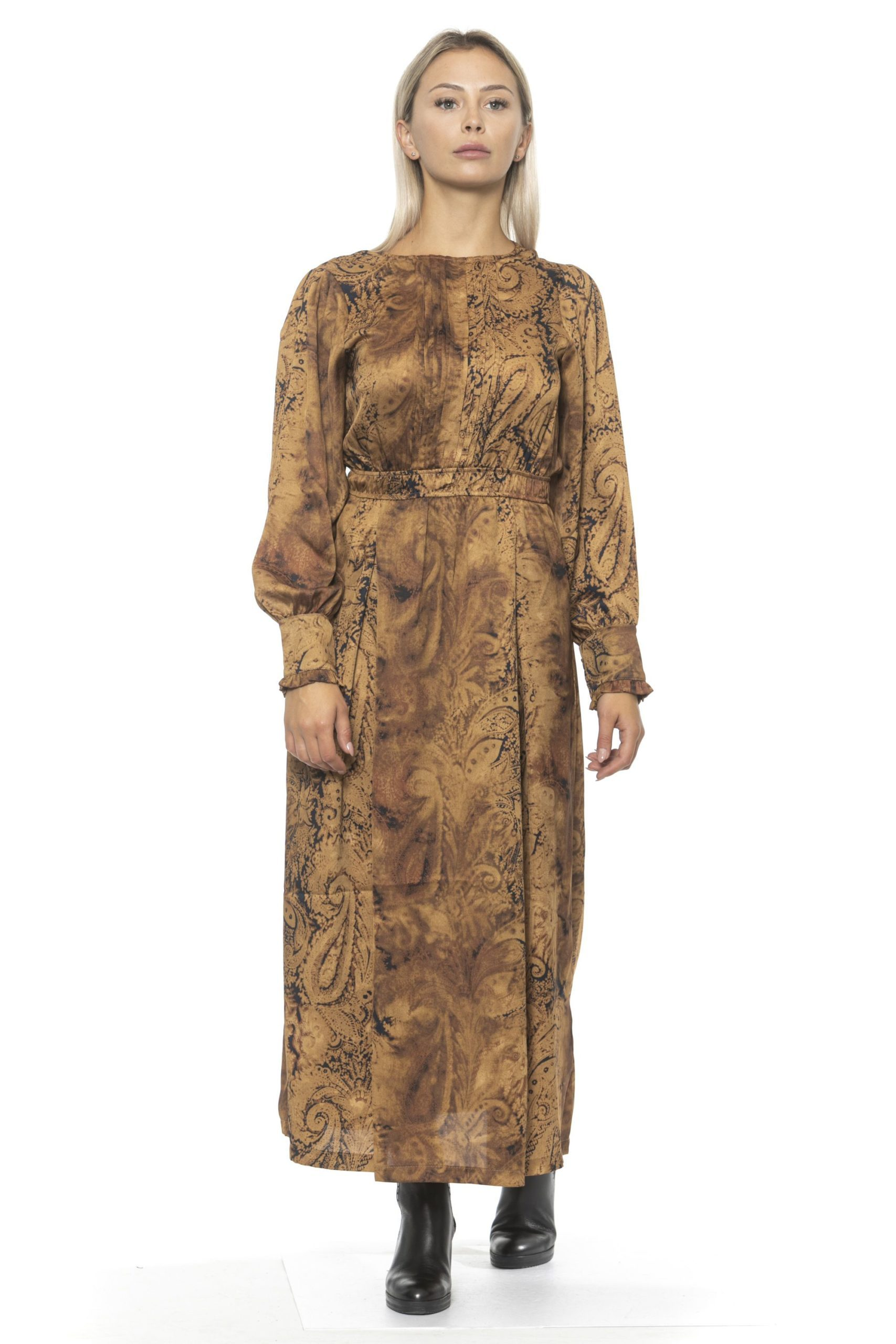 Alpha Studio Women's V A R. U N I C A Dress Brown AL1314663 - IT42 | S