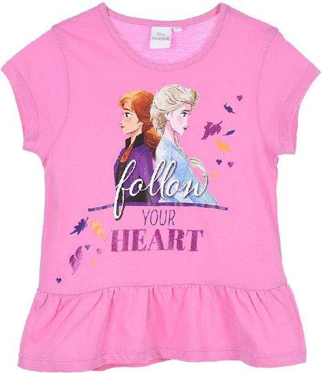 Disney Frozen T-Shirt, Pink, 8 År
