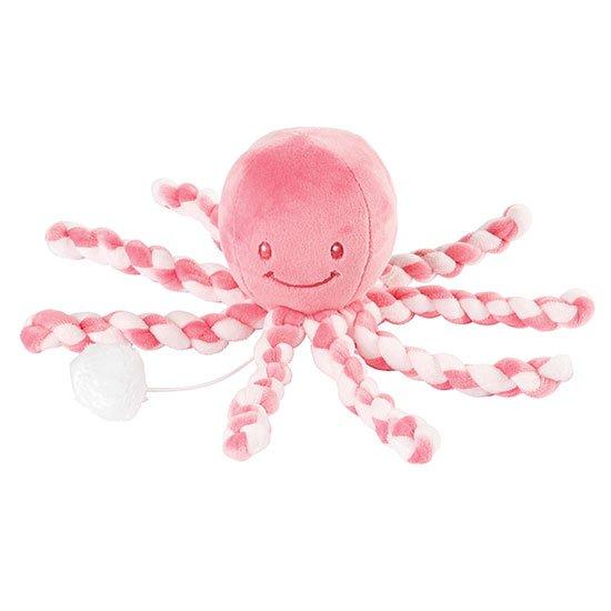 Nattou - Lapidou Music Squid - Coral/Rose