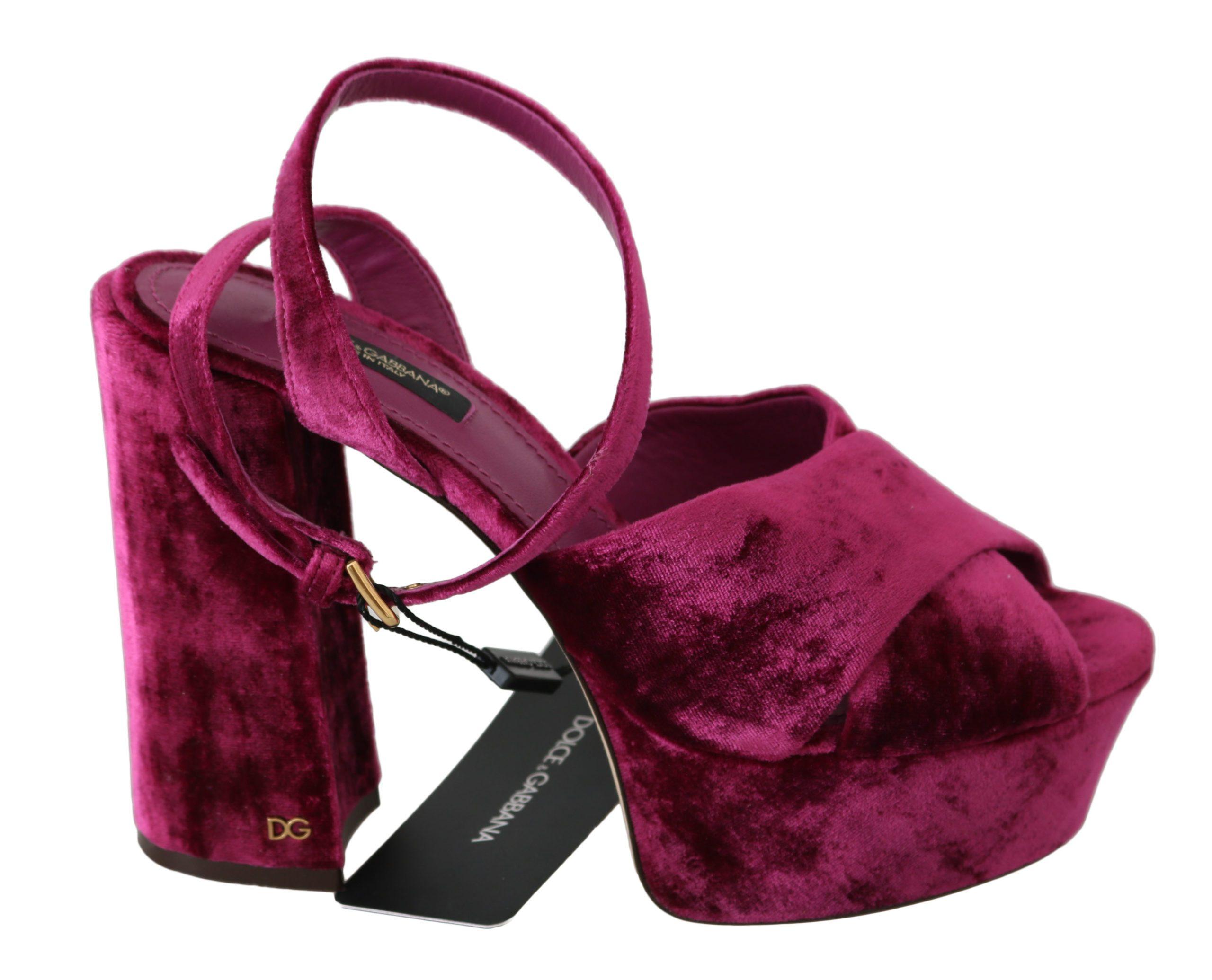 Dolce & Gabbana Women's Strap Sandals Purple LA6263 - EU35/US4.5