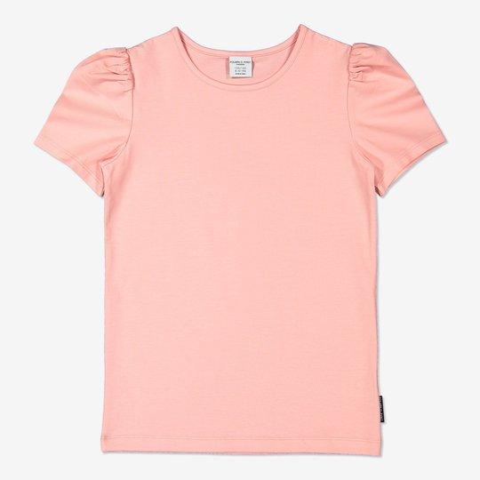 Topp med kort pufferm rosa