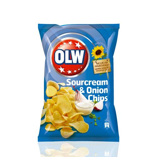 OLW SOURCREAM ONION CHIPS 175 GR