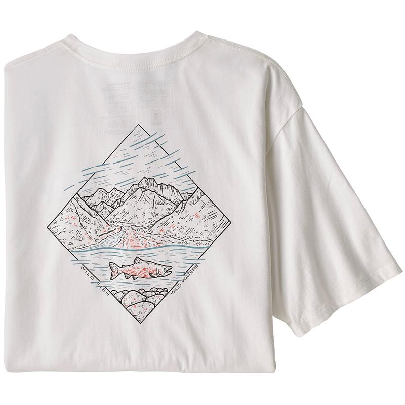Patagonia M's Wild Home Waters S White w/River