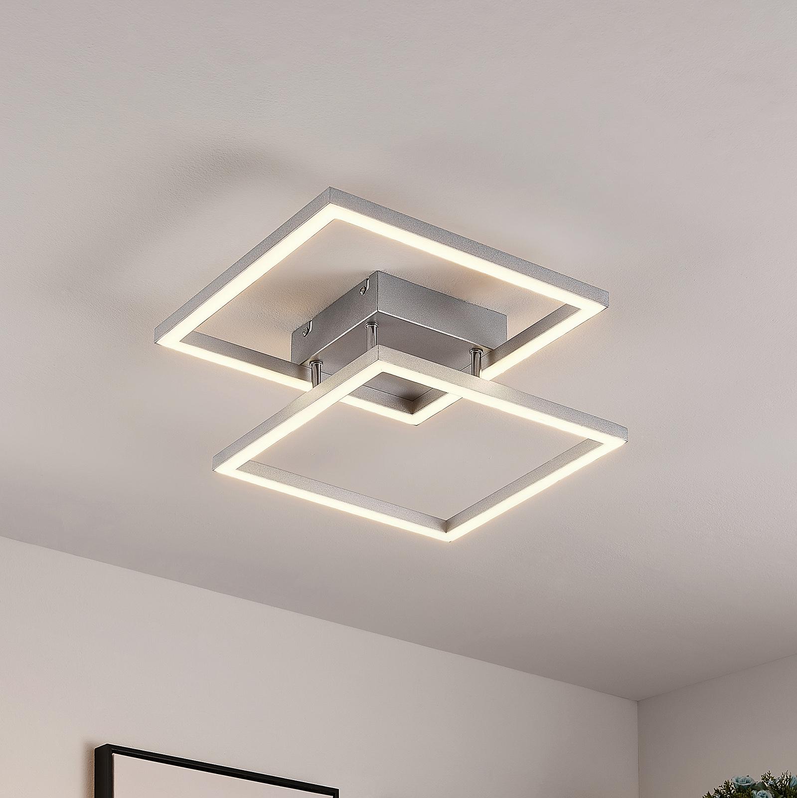 Lucande Muir -LED-kattovalaisin, neliömäinen