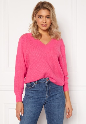 ONLY Tori L/S Pullover Shocking Pink XS