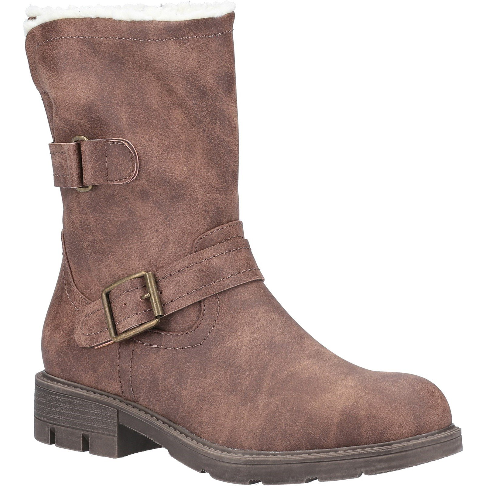 Divaz Women's Whitney Fur Lined Boot Various Colours 31086 - Brown 3