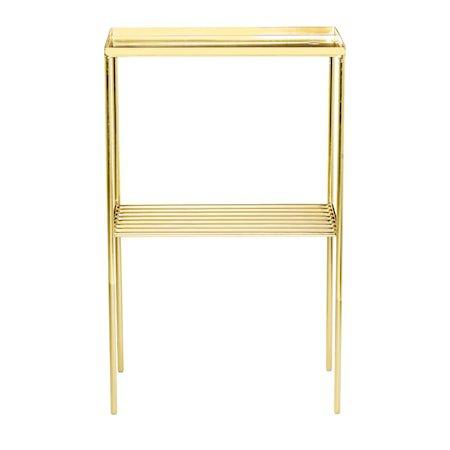 Grid Sidebord Gull Metall 50x80x30cm