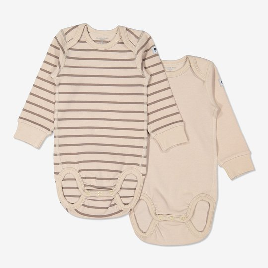 2-pakning body baby beige