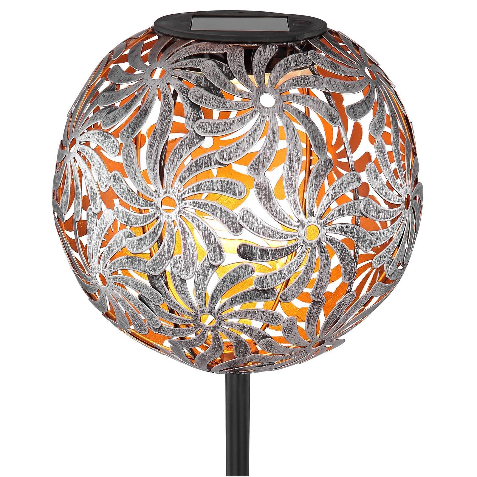 Aurinkokäyttöinen LED-lamppu 33632, hopea