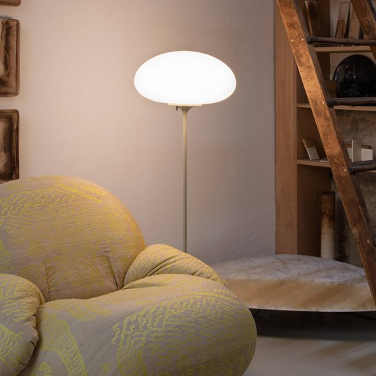GUBI Stemlite gulvlampe, grå, 110 cm