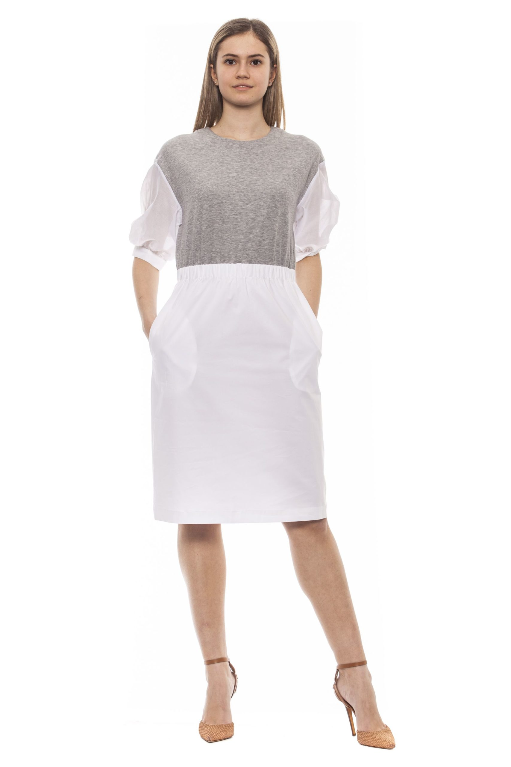 Peserico Women's Grigio Dress Gray PE1383200 - IT42 | S