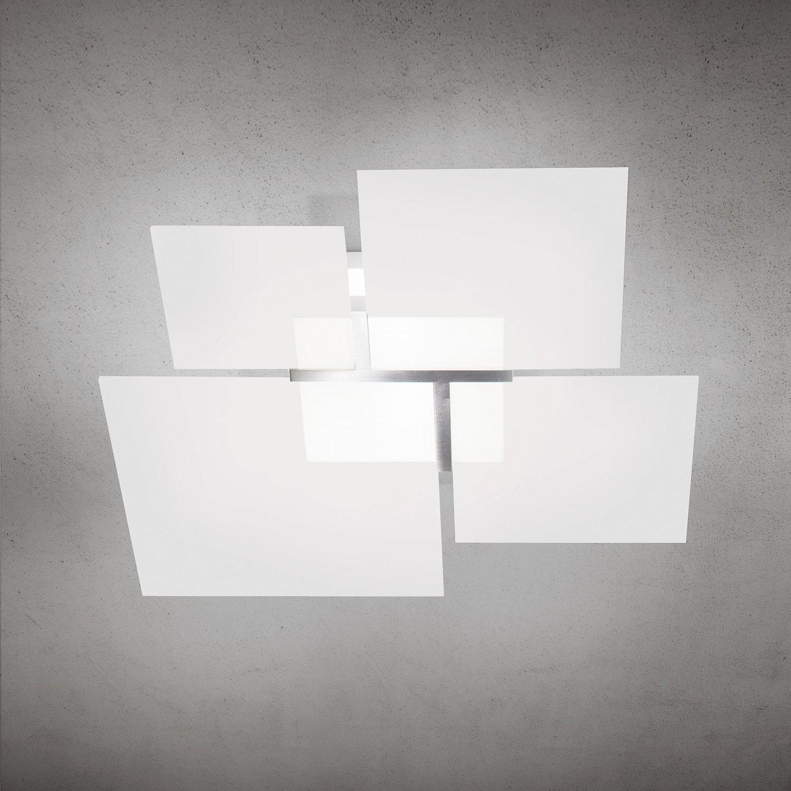 Taklampe Quadrifoglio 8050, stål, 46 cm
