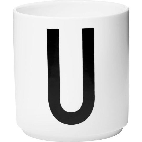 Design Letters Porslinsmugg Vit, U