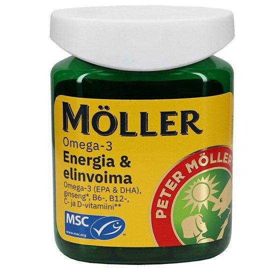 Omega-3 Energia & Elinvoima 60kpl/pakkaus - 37% alennus