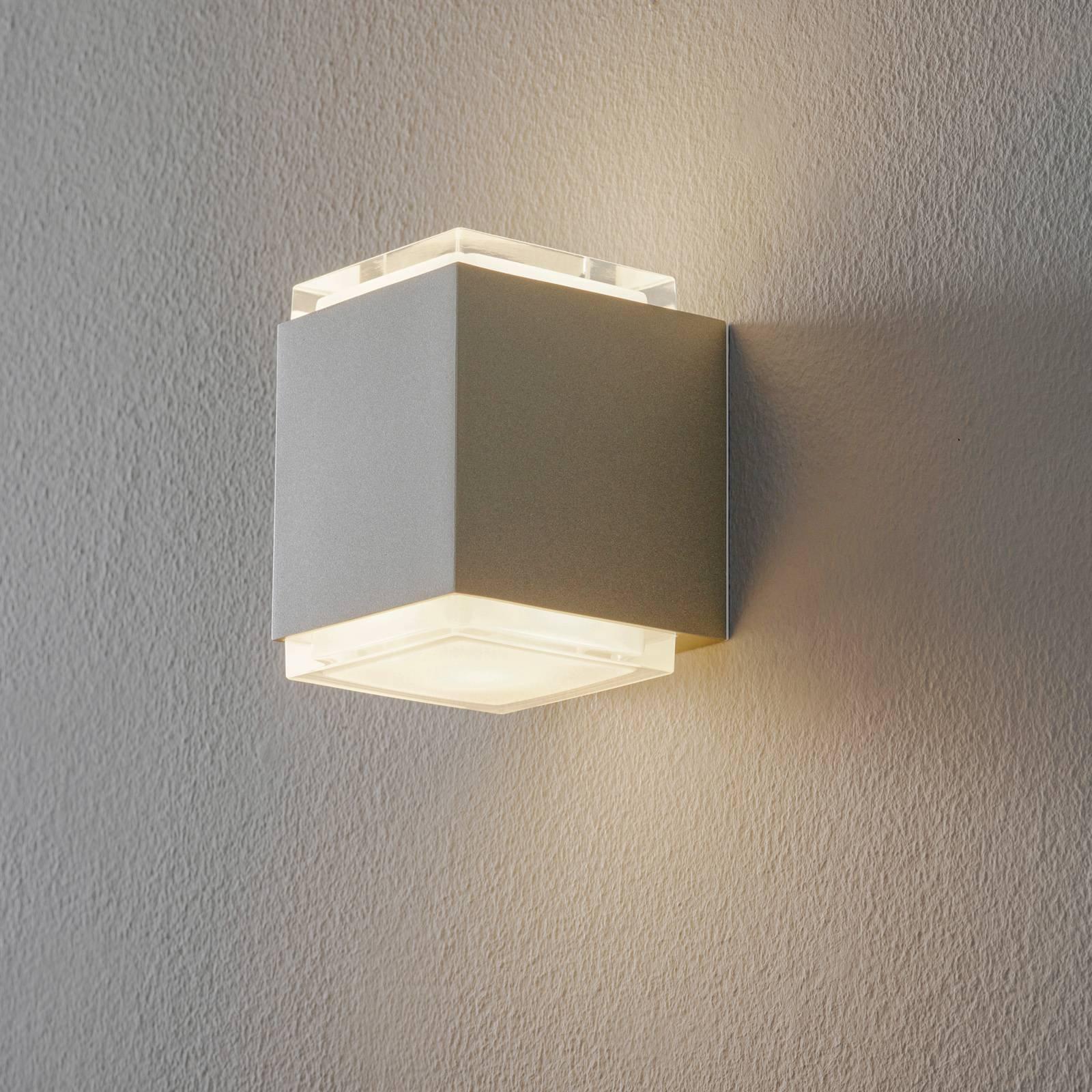 BEGA 50063 LED-vegglampe 3 000 K 9 cm palladium