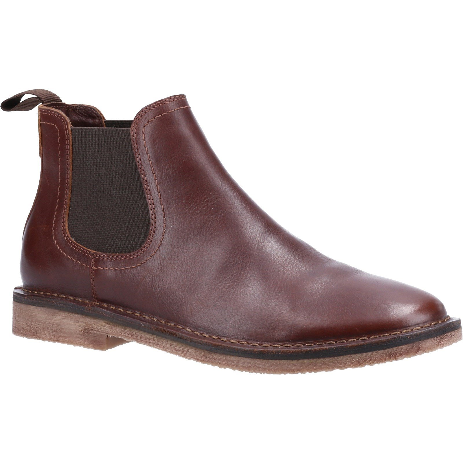 Hush Puppies Men's Shaun Leather Chelsea Boot Various Colours 32897 - Brown 12