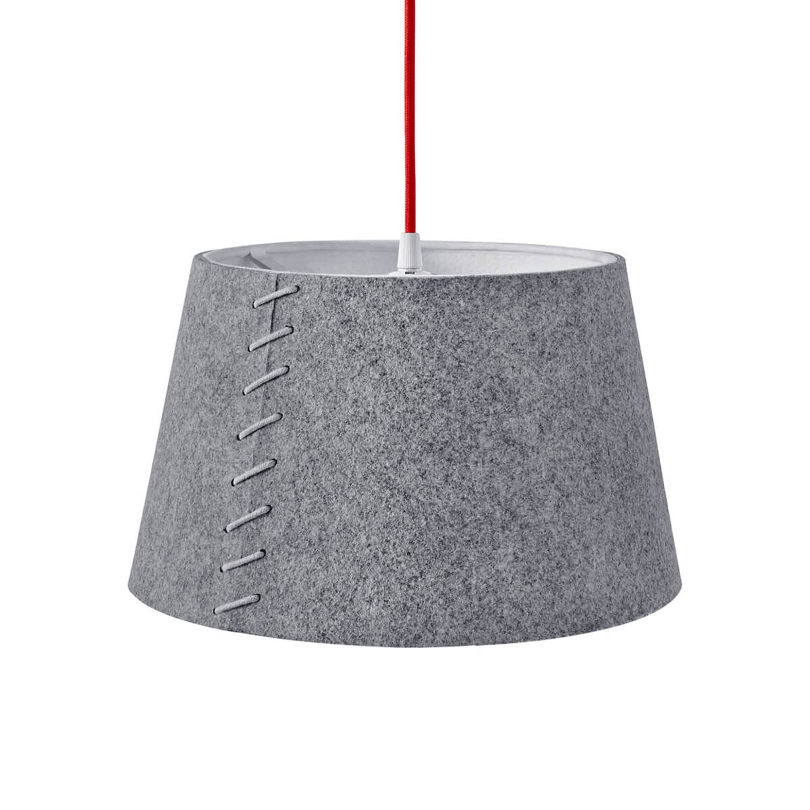 Alice-LED-riippuvalo harmaata huopakangasta, 30 cm