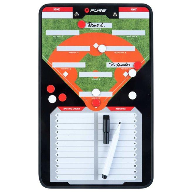 vidaXL Dubbelsidig taktikplatta för baseball 35x22 cm