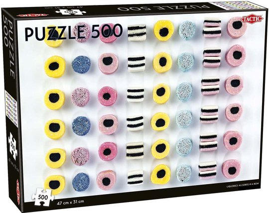 Tactic Puslespill Liquorice Allsorts In A Row 500 brikker