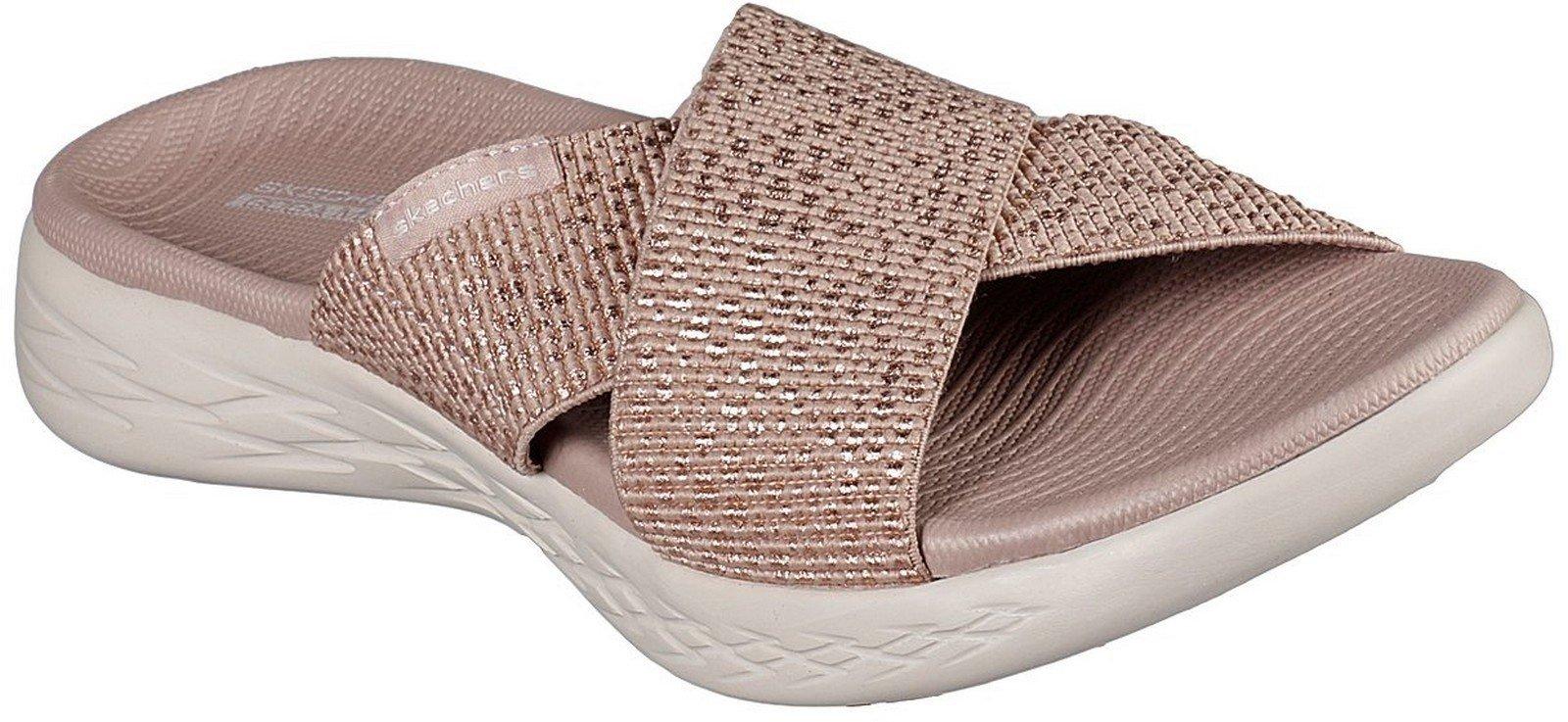 Skechers Women's On the GO Glistening Sandal Various Colours 30352 - Rose Gold 3