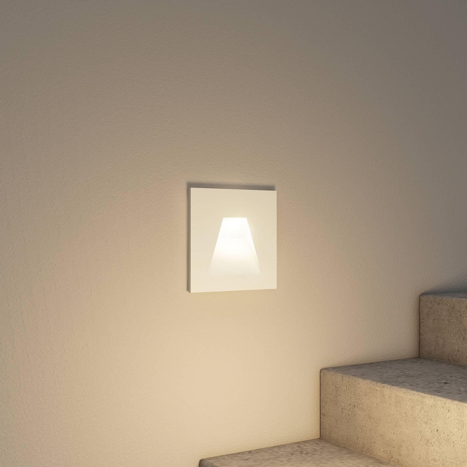 Arcchio Lasca LED-innfellingslampe, hvit