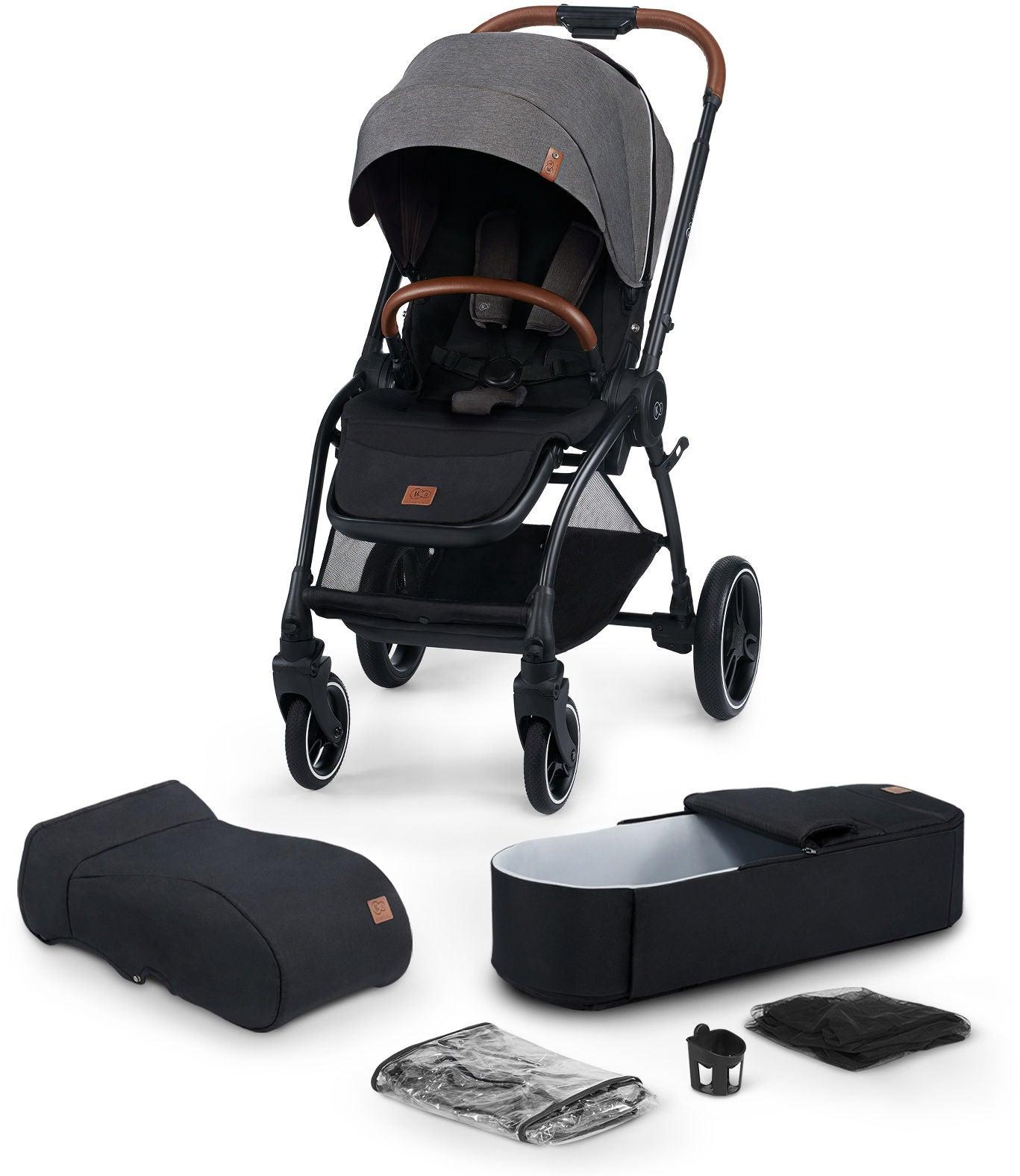 Kinderkraft Evo Cocoon Duovagn, Plat Grey